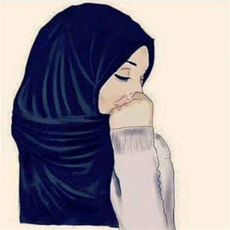 tutorial gambar anime hijab a woman with her scarf on her head is the most beautiful