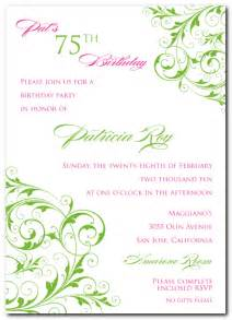 75th birthday invitation templates birthday invites best choice 75th birthday invitations