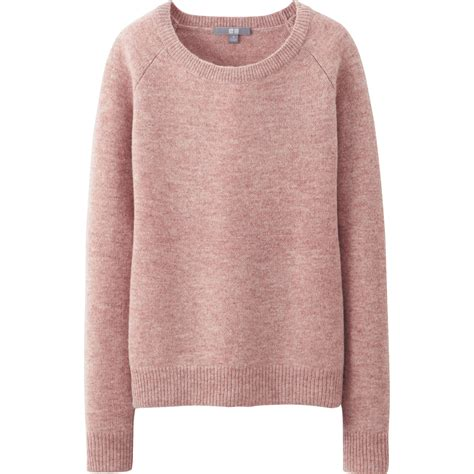 Uniqlo Sweatshirt Vintage Sweater 1 uniqlo lambswool blend crew neck sweater in pink lyst