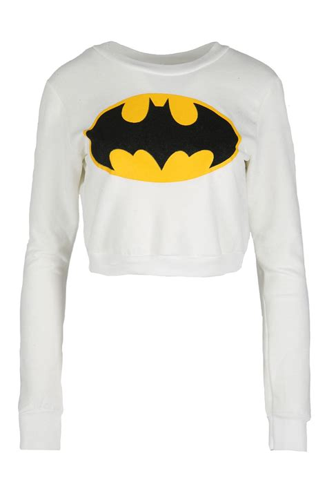 Hoodie Sweater Batman V Superman 2 1 womens superman batman cropped tops fleece sweatshirts pullover ebay