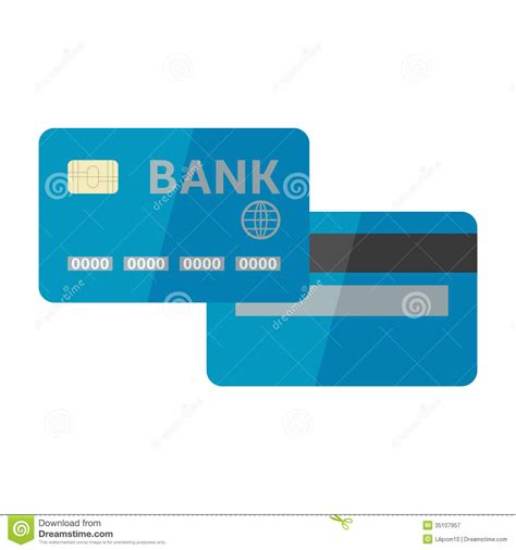 Credit Card Eps Template Vector Illustration Of Credit Card Isolated On Whi Stock Vector Image 35107957