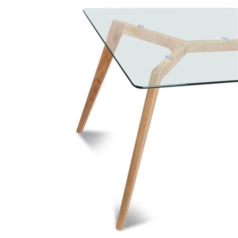 plateau de table verre table rectangulaire plateau de verre style scandinave demeure et jardin