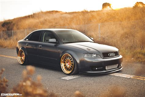 audi a4 gold wheels gold status josh s fitted audi a4 stancenation