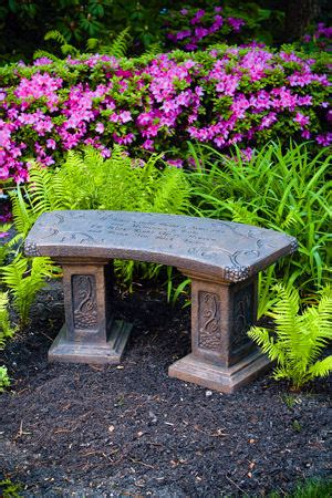 memorial garden benches stone reflection bench stone memorial with verse if tears could