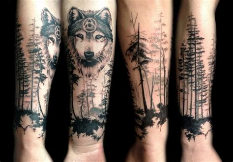 wolf forest tattoo wolf forest by sofimaki ideas
