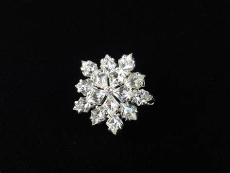 Rhinestone Snowflake Brooch eisenberg shaped rhinestone snowflake brooch pin