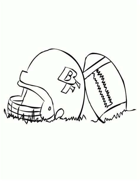 football coloring page pdf helmet and football coloring az coloring pages