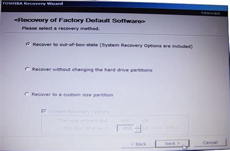 well how to reformat a toshiba laptop to factory defaults without a recovery cd