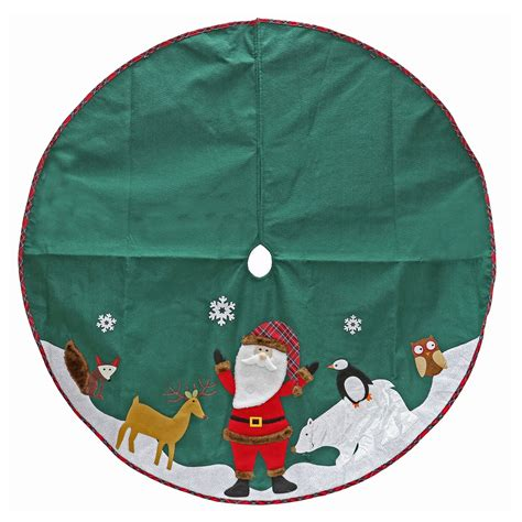 trim a home 174 48 quot felt tree skirt with santa green