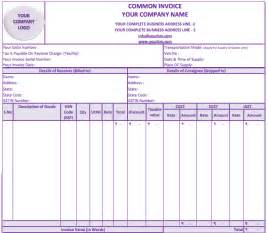 excel invoice template gst tax invoice format gst updatetia