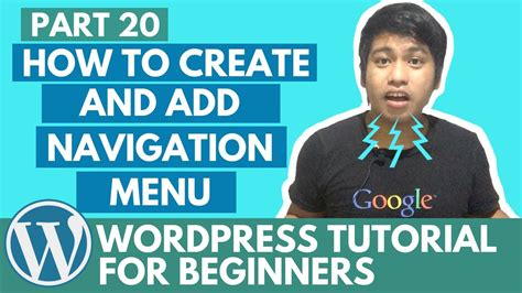 how to create a website tutorial for beginners youtube wordpress tutorial for beginners how to create and add