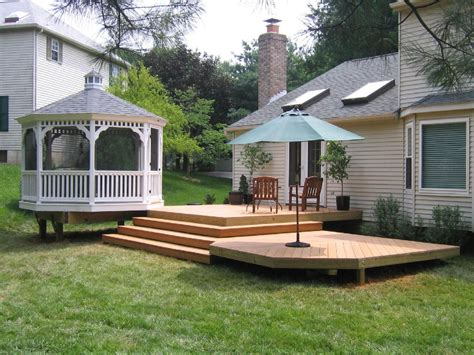 deck in the backyard patio and deck ideas for backyard marceladick com