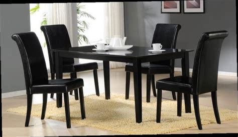 acme furniture joe dining set in black table and 4