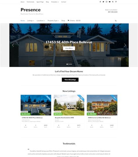 10 wordpress themes for real estate agents
