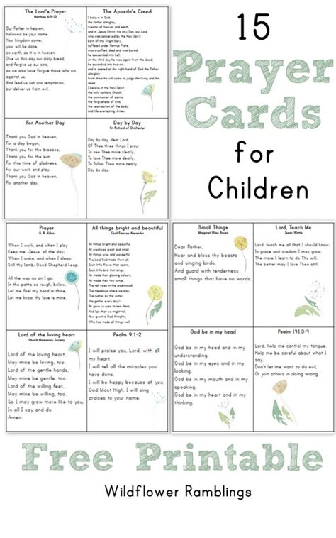 free printable prayer cards template prayer cards for children free printable wildflower