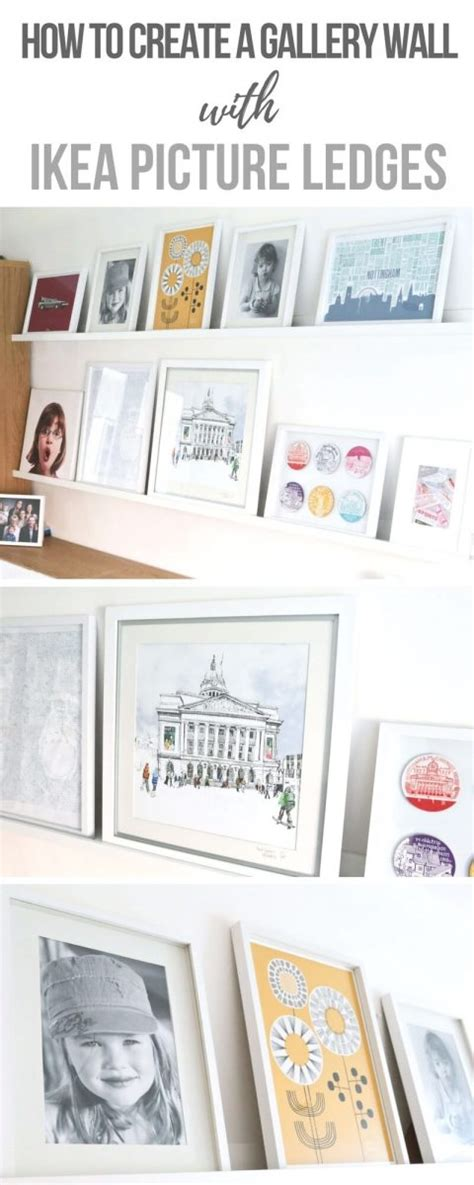 mosslanda picture ledge how we created the perfect gallery wall with ikea