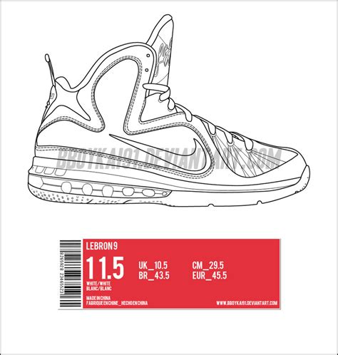 nike shoe template lebron shoe free coloring pages