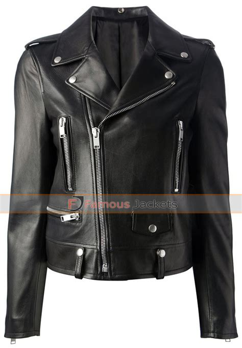 black motorbike jacket mariah carey black motorcycle style leather jacket 163 127