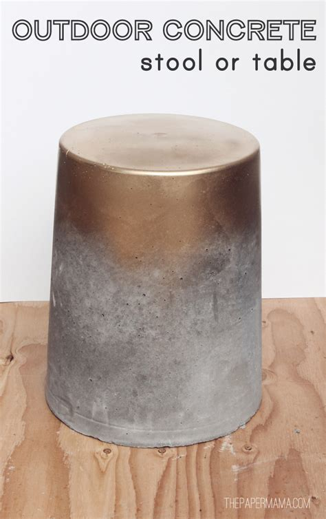 Concrete Stool Diy by Outdoor Concrete Stool Or Table Diy Bhg Style Spotters