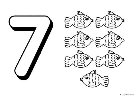 7 Eleven Coloring Page by Numeros Para Pintar