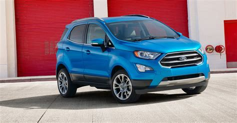 Small Ford Suv by 2018 Ford Ecosport Facelift Escapes La New Look Compact