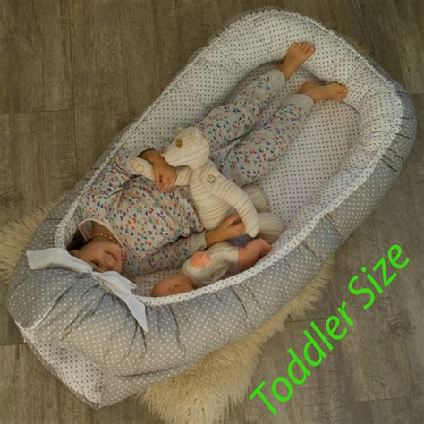 baby nest bed toddler size ready to ship double sided babynest sleep bed