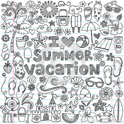 tropical beach coloring pages i love summer vacation tropical doodle vector stock photo
