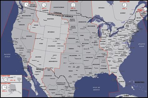 times zones in usa with the map usa time zones map digital vector creative