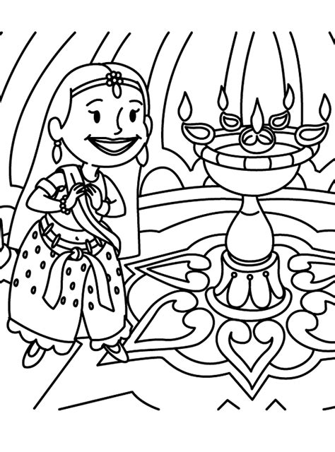 Free Coloring Pages Diwali Coloring Pages 2011 Deepavali Diwali Coloring Pages