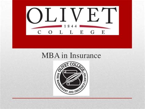Mba Insurance Services by Olivet College Mba In Insurance