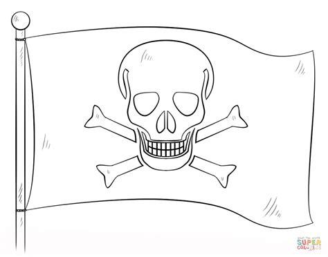jolly roger pirate flag coloring page greek flag