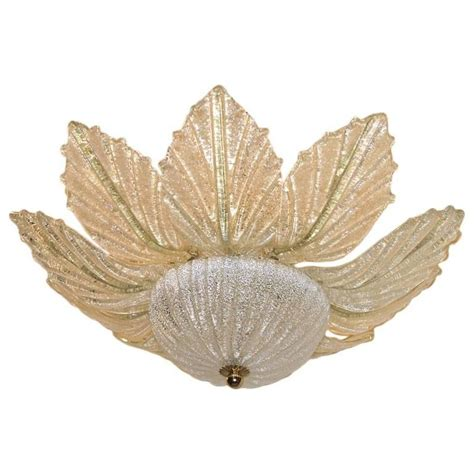 Flower Light Fixture Pair Of Midcentury Glass Flower Light Fixtures For Sale At 1stdibs