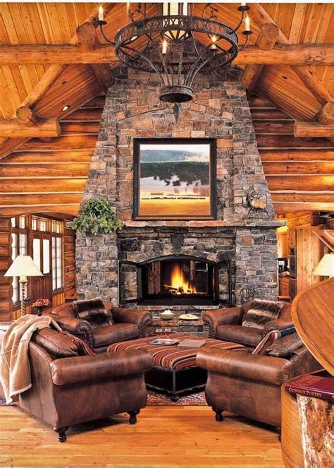 fireplace for log home home