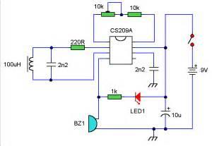 metal detector circuit schematic