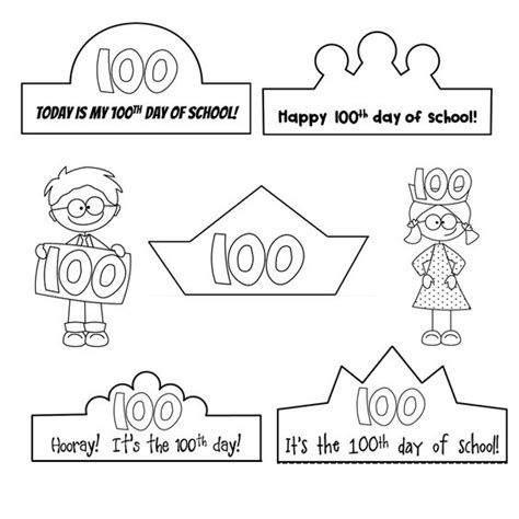 100th day crown template 100th day of school 100th day and schools on