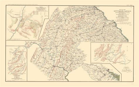 historical sketch of franklin county pennsylvania prepared for the centennial celebration held at chambersburg penn a july 4th 1876 and subsequently enlarged classic reprint books civil war maps route battle scout sketches plate cxvi