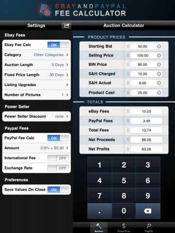 ebay paypal fee calculator ebay paypal fee calculator hd for ipad download ebay