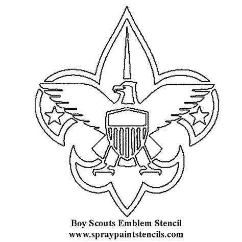 Scout Logo Outline by The Gallery For Gt Boy Scout Symbol Black And White