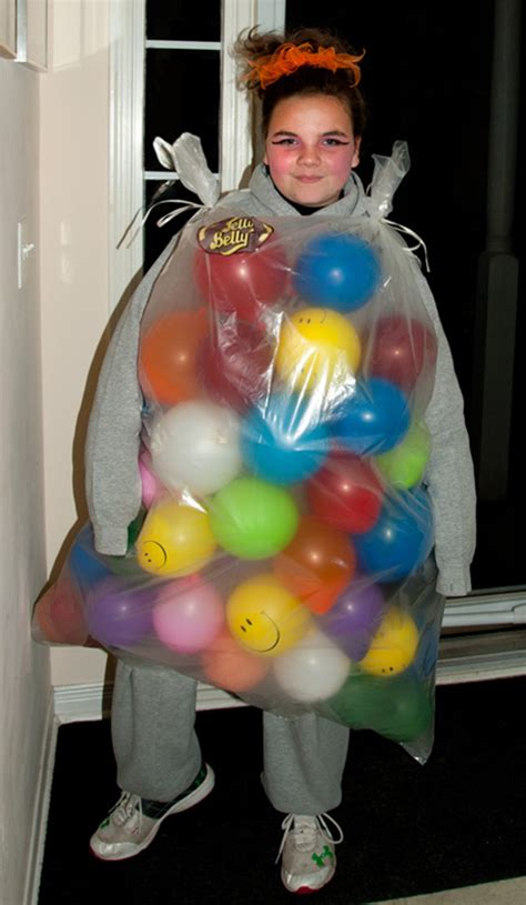 jelly bean bag costume make your own by recycling plastic bags