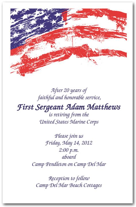 patriotic invitation templates free usa flag invitations 4th of july invitations