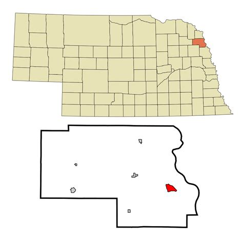 Thurston County Search File Thurston County Nebraska Incorporated And Unincorporated Areas Macy Highlighted