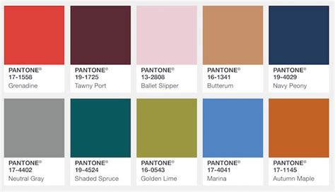 la paleta de colores temporada 2017 2018 nueva tendencia para tu boda de inbodas los colores de moda para el oto 241 o invierno 2017 18 pantone fashion color report bcn cool
