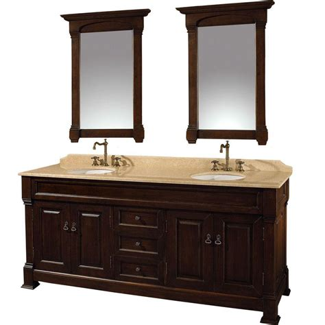 Andover Vanity by Wyndham Collection Andover 72 In Vanity In Cherry