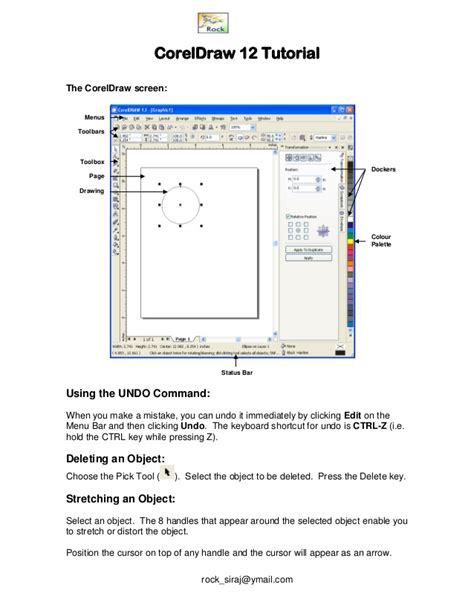 Corel Draw X6 Notes | corel draw 12 notes