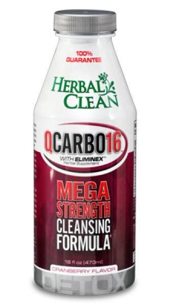 Qcarbo16 Detox Test by Herbal Clean Qcarbo 16oz Nhm Distributing