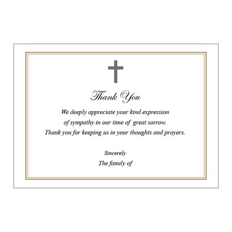 Funeral Acknowledgement Cards Template by Acknowledgement Card Harvest Memorial Cards
