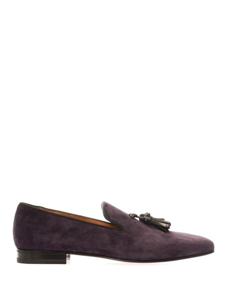 christian louboutin mens loafers christian louboutin dada tassel suede loafers in purple