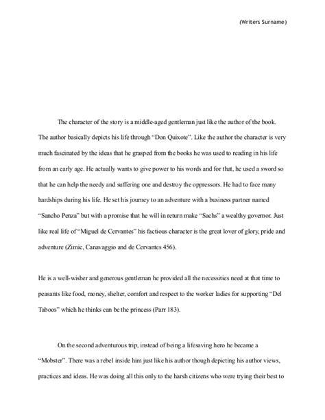 Don Quixote Essay by Don Quixote Research Paper