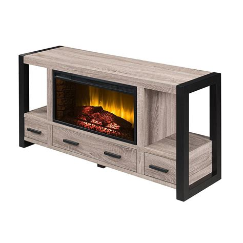 real fireplace tv stand real marlowe 70 in freestanding electric fireplace