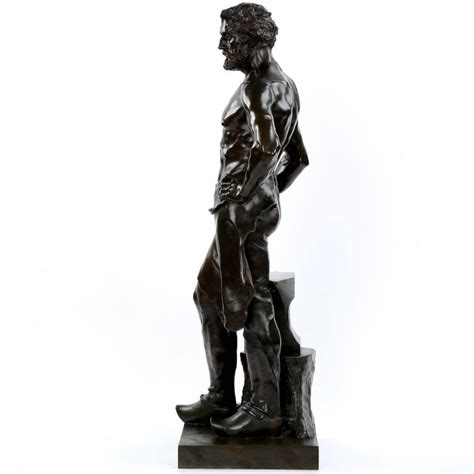 Bronze L by Alfred Boucher Antique Bronze Sculpture L Forgeron By Siot